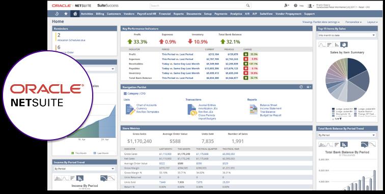 NetSuite ERP : Aperçu de l'interface utilisateur