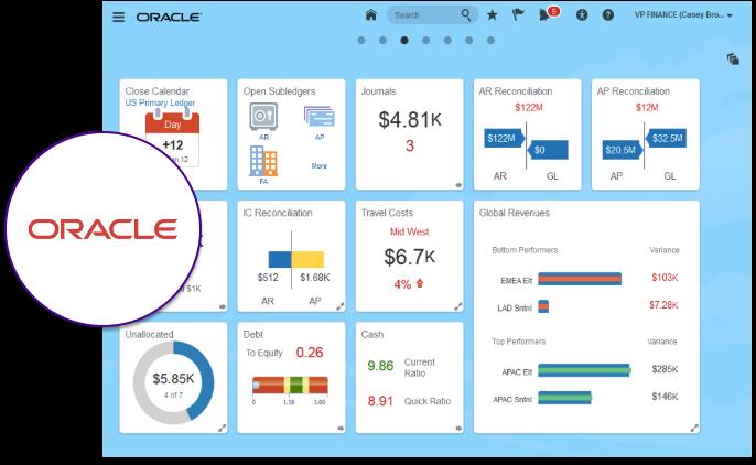 Oracle ERP : : Aperçu de l'interface utilisateur